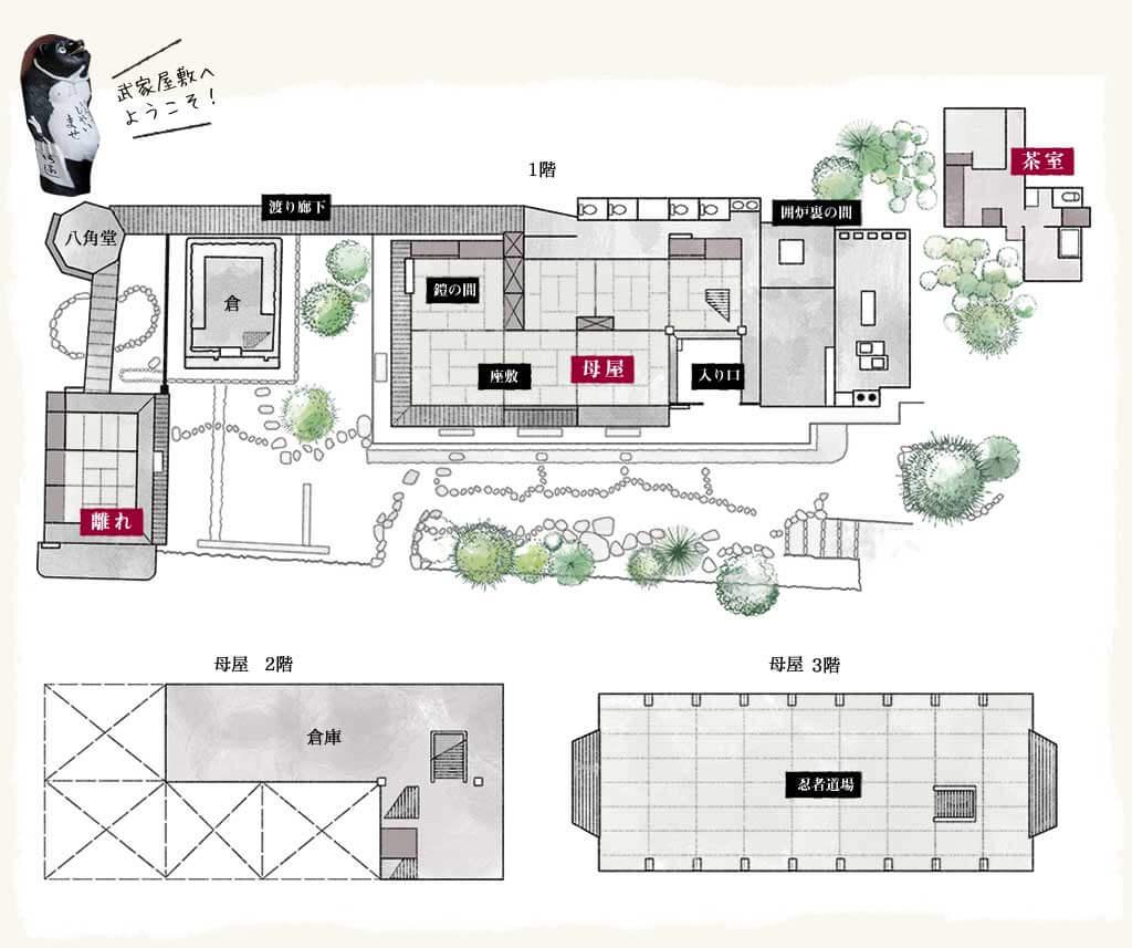 武家屋敷地図